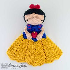 Snow white lovey crochet pattern by One and two company