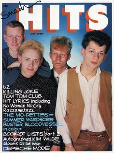 Depeche Mode on the cover of Smash Hits magazine from July Fun Boy Three, Kirsty Maccoll, Andy Bell, Tom Tom Club, Paul Weller, Martin Gore, Band Pictures, Valley Girls, Phil Collins