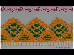 Borde, puntilla o orilla tejida a crochet para colchitas o mantitas para bebe paso a paso - YouTube