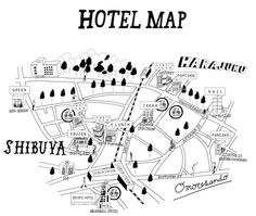「ローリーズファーム」がプロデュースしたホテルの客室が期間限定でオープン | OTHER | LIFE | WWD JAPAN.COM Map Design, Book Design, Graphic Design, Visual Map, Map Projects, Phone Stickers, Travel Brochure, Communication Design, Design Competitions