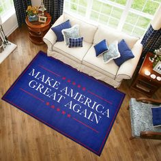 Whether this MAGA slogan area rug is for yourself or to gift to a friend, family member, collague or frenemy, this Make America Great Again rug is the ultimate gift for the Holidays. #rugs