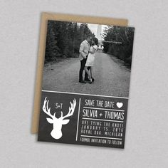 DIY Printable Wedding Save the Date Photo: Picture by MintCloudLLC