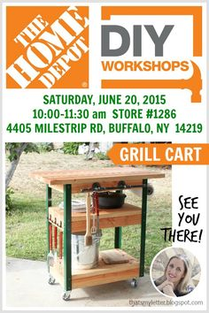 "That's My Letter: ""D"" is for DIY Workshop: Grill Cart"