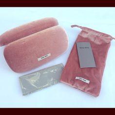 bb97968e80d5 Miu Miu sunglasses case & pouch Miu Miu brand sunglasses case with pouch  and cleaning cloth. Pink VelvetCard ...
