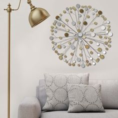 Metallic Starburst Wall Decor