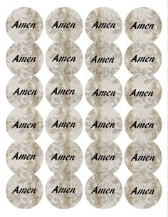 Amen Grandmas Bible Paper Sticker, 24 Stickers, Digital Round Images inch circle, Amen Series for Planner, Jewelry, Scrapbooking and Crafts by TiStephani on Etsy