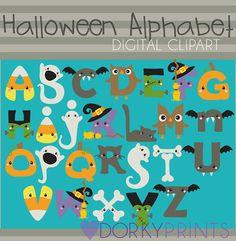 He encontrado este interesante anuncio de Etsy en https://www.etsy.com/es/listing/203303653/halloween-alphabet-clip-art-personal-and