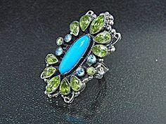 Leo Feeney Sterling Silver Sleeping Beauty Turquoise Ring