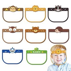Amazon.com : Permotary 8 PCS Kids Transparent Face Visor Mask with Elastic Band&Sponge, Reusable Lightweight Anti-Fog Children Face Protect Cover Clear Film for Boys Girls Outdoor School Activities Indoor Parties : Beauty