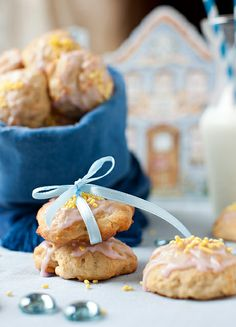 Lemon Ricotta Cookies with Lemon and Cranberry Glaze at Cooking Melangery