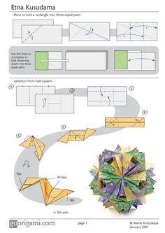 Etna Kusudama by Maria Sinayskaya - Diagram | Go Origami!