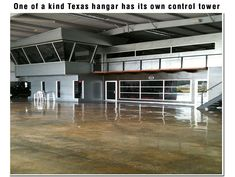 One of a kind Texas hangar has its own control tower Metal Building Homes, Building Design, Building A House, Building Ideas, Barn Garage, Dream Garage, Garage Design, House Design, Black Metal