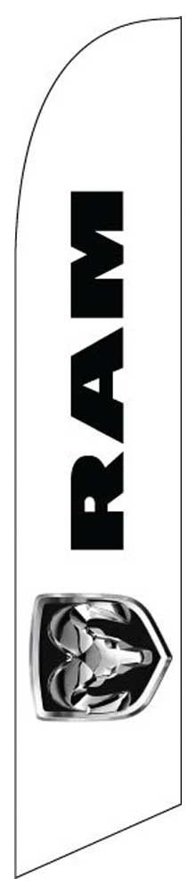 dodge ram logo 2 sided deluxe swooper flag - Dodge Ram Logo