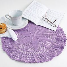 Follow this free crochet pattern to create a sunflower doily using DMC Cebelia size 10 Crochet Thread.
