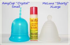 """AmyCup """"Crystal"""" Small vs MeLuna """"Shorty"""" XLarge"""