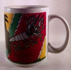 Really Cool Blunt Irie Rasta Mug Coffee Cup Shelter Cove California 420 Weed HTF