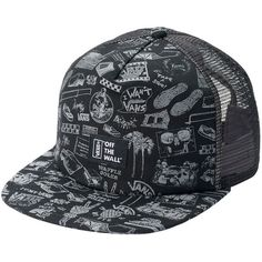 Men s Vans Anniversary Trucker Snapback Cap ( 24) ❤ liked on Polyvore  featuring men s fashion 1d8ae0365439