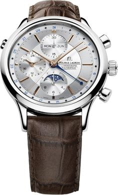 @mauricelacroix Watch Les Classiques Phase de Lune Chronograph Mens #add-content #bezel-fixed #bracelet-strap-leather #brand-maurice-lacroix #case-depth-14-6mm #case-material-steel #case-width-41mm #chronograph-yes #date-yes #day-yes #delivery-timescale-1-2-weeks #dial-colour-silver #gender-mens #limited-code #luxury #moon-phase-yes #movement-automatic #official-stockist-for-maurice-lacroix-watches #packaging-maurice-lacroix-watch-packaging #perpetual-calendar-yes #style-dress…