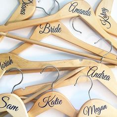 Wedding Bridal Party Vinyl coat hanger decal sticker NAME OR ROLE DIY stickers in Home, Furniture & DIY, Wedding Supplies, Other Wedding Supplies | eBay