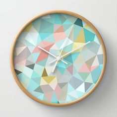 Pretty geo wall clock
