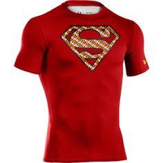 Under Armour UA Superman Man of Steel Ample Heatgear Tee Justice League