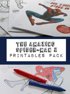 Spiderman colouring in and activities printables pack