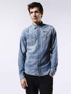 7ab12dc7c70 102 Best Men s Denim Shirts images