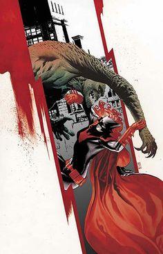 6e123a77529 DC  Batwoman vs Killer Croc Dc Comics Art