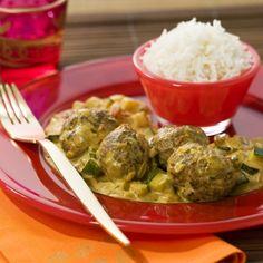 Boulettes de veau au curry