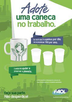 Comunicação interna - campanha pelo meio ambiente.