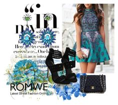 """""""Romwe7"""" by dinka1-749 ❤ liked on Polyvore featuring Chanel"""
