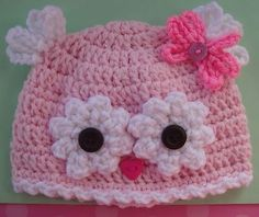 Just for the idea in the future.......New Pink Owl Baby Hat Preemie Newborn