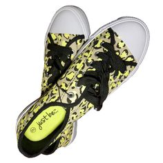 Just Be Oxford Yellow Leopard Shoes #stellasaksa #Oxford #yellow #leopard #justbe