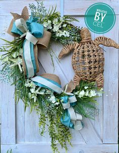 Your place to buy and sell all things handmade – Grapevine Wreath İdeas. Starfish Wreath, Coastal Wreath, Nautical Wreath, Beach Wreaths, Coastal Decor, Nautical Anchor, Diy Wreath, Grapevine Wreath, Wreath Ideas