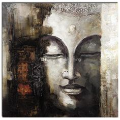 Cheap Wholesale 100% Handmade Buddha Oil Painting Square Decoration Painting People Art Painting on Canvas Free Shipping