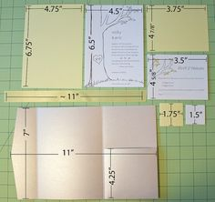 DIY wedding pocket fold invites