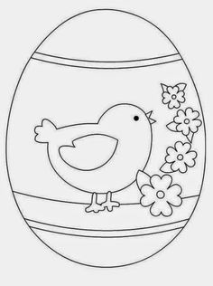 Easter Coloring Pages, Colouring Pages, Coloring Sheets, Coloring Books, Easter Projects, Easter Crafts, Embroidery Patterns, Machine Embroidery, Easter Egg Designs
