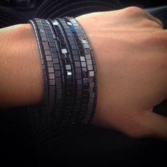 Shades of Grey Hematite Bracelet Set by Lauren York Designs by LAURENYORKDESIGNS on Etsy https://www.etsy.com/listing/238046407/shades-of-grey-hematite-bracelet-set-by