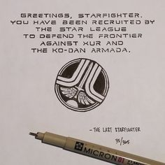 (35/365) The Last Starfighter Ian Simmons Drew One Movie Quote Every Day For A Year  For the past year, artist Ian Simmons has been drawing one movie quote every single day. The end result is this incredible gallery of 365 famous movie quotes, written out in beautiful typography with accompanying sketches.  Simmons has 96 of the most popular pieces for sale on his Etsy store https://www.etsy.com/shop/southocreative, if you're a movie buff who needs these for your wall.