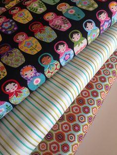 Matryoshka Doll quilt or craft fabric bundle by fabricshoppe, $28.50