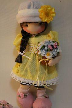 ''Fidelina Dolls...Soul Heart''. Pretty Dolls, Cute Dolls, Beautiful Dolls, Girl Dolls, Baby Dolls, Sewing Toys, Soft Dolls, Felt Toys, Diy Doll