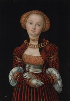 "geritsel: "" Lucas Cranach the Elder - three portraits of young women """