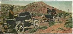"""Horseless Carriage"" on the Lincoln Highway-Wyoming"
