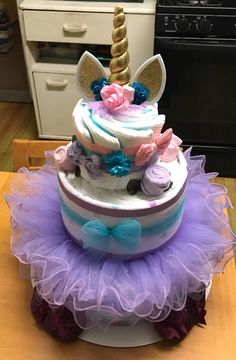 A personal favorite from my Etsy shop https://www.etsy.com/listing/583256165/unicorn-diaper-cake