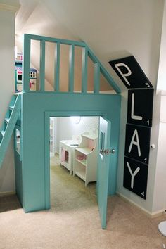 Really cool playroom!