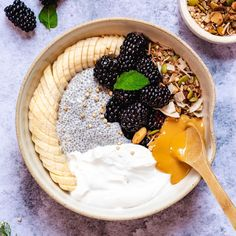 This Chia Pudding with Granola, Fruit and Nut Butter recipe is featured in the Chia Seeds feed along with many more. Vegan Gluten Free Breakfast, Vegan Breakfast Recipes, Crockpot Recipes, Keto Recipes, Healthy Recipes, Cleanse Recipes, Butter Recipe, Nut Butter, Mediterranean Cookbook