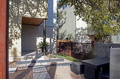 Modern Home   Xeriscaping   Austin Home   Concrete Pavers   Modern Exterior http://www.riversidehomesaustin.com/