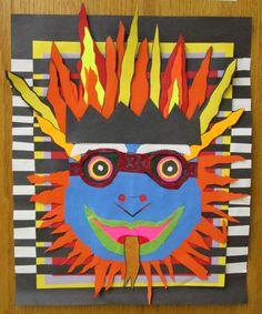 7th Grade Art, Balinese Mask, Rye Middle School, 2011-2012