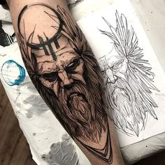 Viking Tattoos Ideas - Scandinavian tattoo ideas for men and women .- Viking Tattoos Ideas – Scandinavian tattoo ideas for men and women ideas Viking Tattoo Sleeve, Norse Tattoo, Leg Tattoo Men, Forearm Tattoos, Sleeve Tattoos, Yggdrasil Tattoo, Tatto For Men, Thor Tattoo, Unalome Tattoo