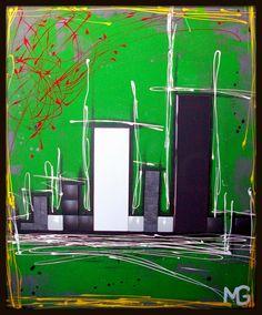 SUMMER CITY * SOLD * [30x36] Abstract, City, Artwork, Summer, Summary, Work Of Art, Summer Time, Summer Recipes, City Drawing